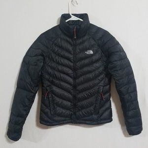 North Face Womens Small Black Down Jacket Puffer Quilted Puff Lightweight Coat